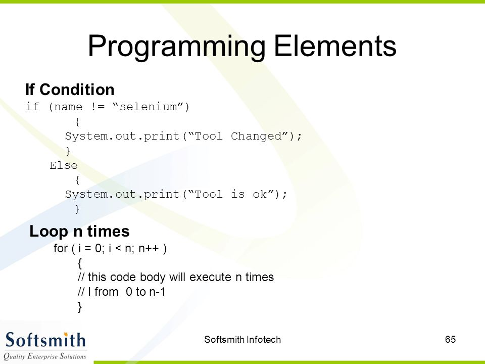 Softsmith Infotech1 Test Automation Using Selenium  - ppt download