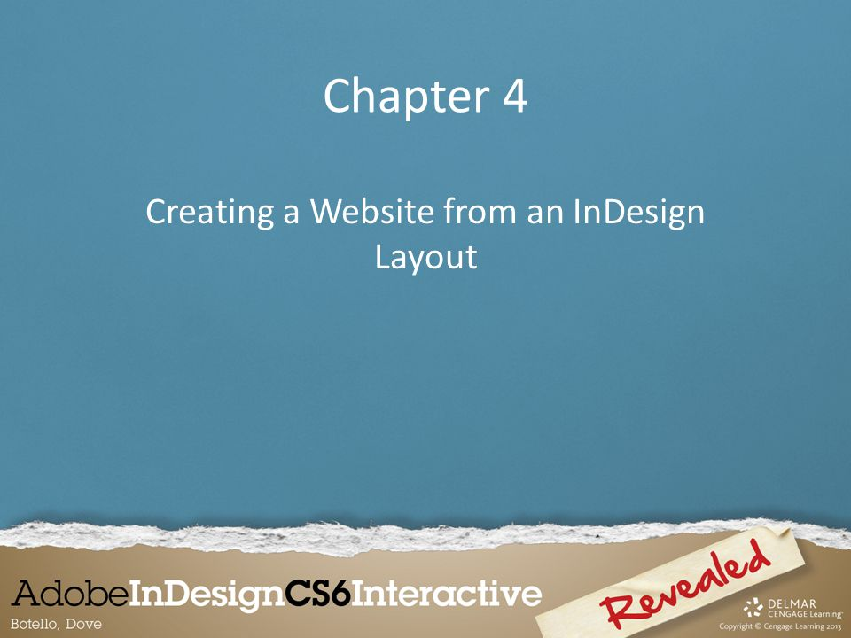 Chapter 4 Creating a Website from an InDesign Layout