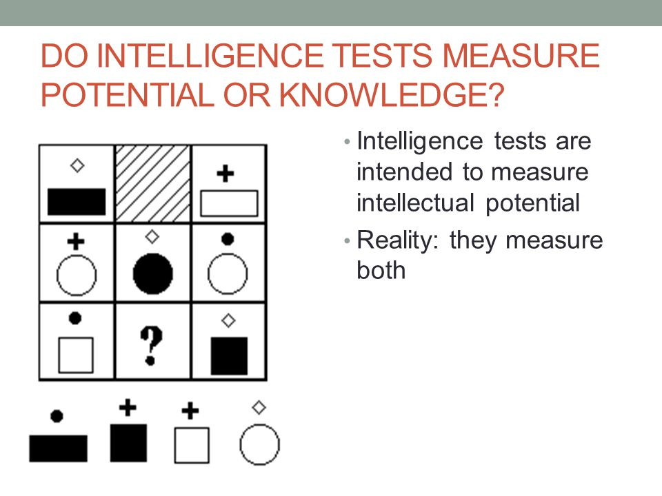 DO INTELLIGENCE TESTS MEASURE POTENTIAL OR KNOWLEDGE.