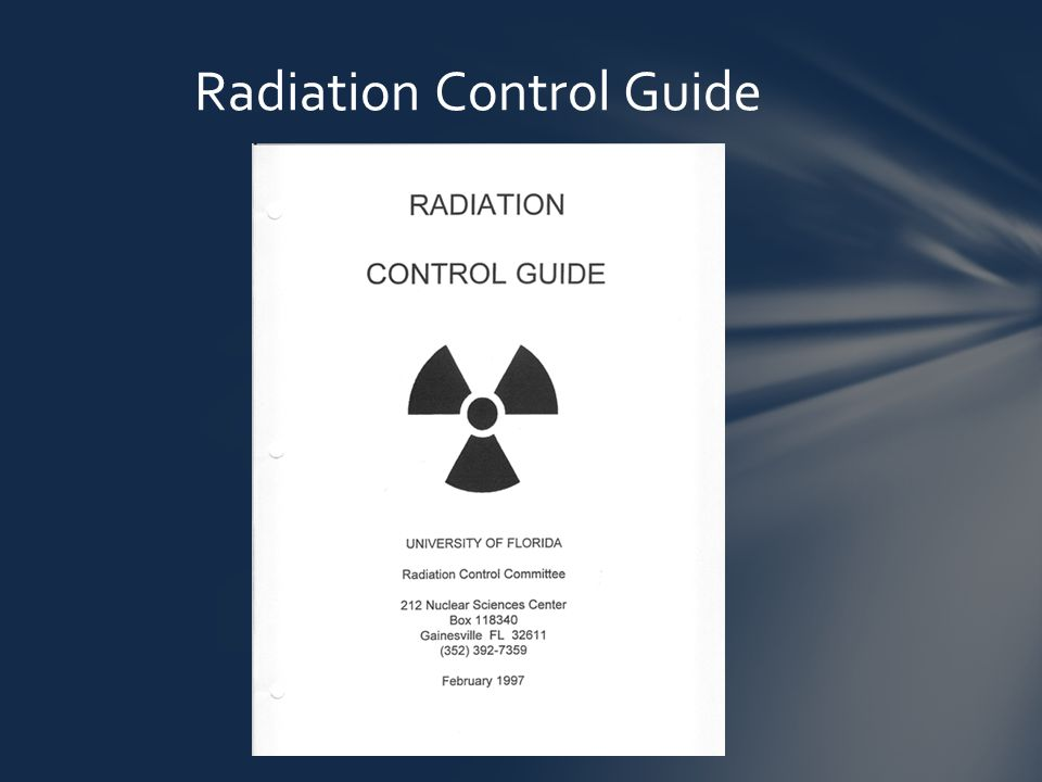 Radiation Control Guide