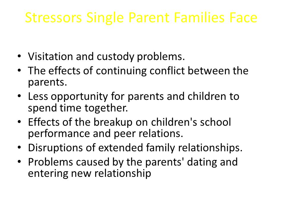 single parent dating problems what is a normal dating process