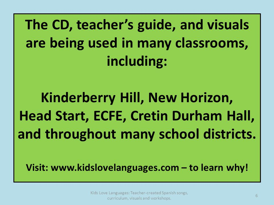 The Cd Teachers Guide And Visuals Are Being Used In Many Cl Rooms Including