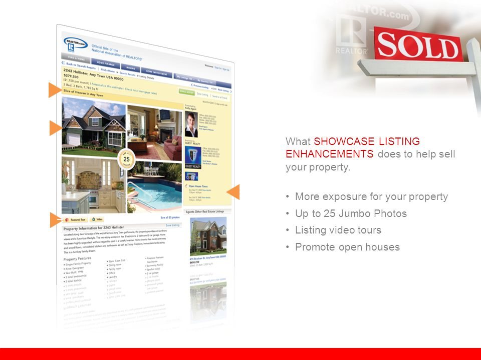 r What SHOWCASE LISTING ENHANCEMENTS does to help sell your property.