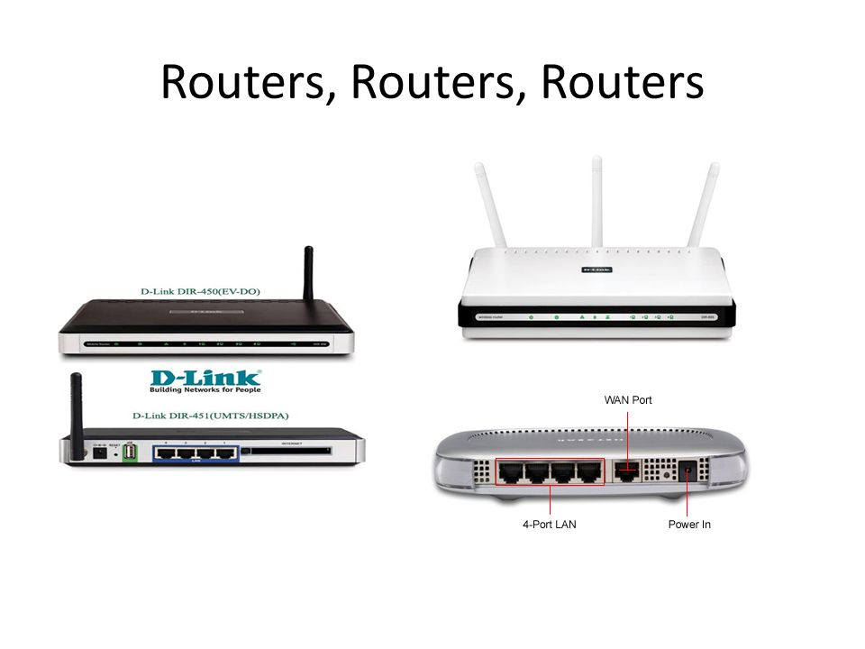 Routers, Routers, Routers