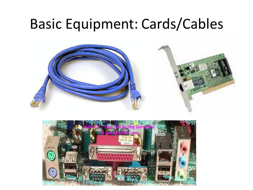 Basic Equipment: Cards/Cables