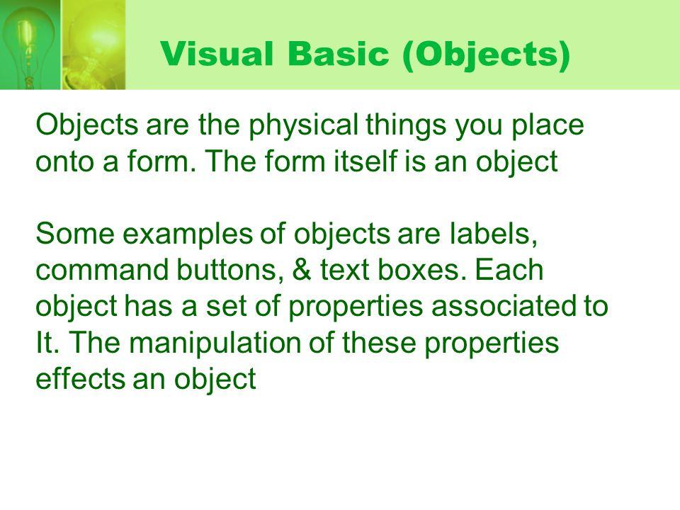 Visual Basic net IDE  Integrated Development Environment  - ppt download