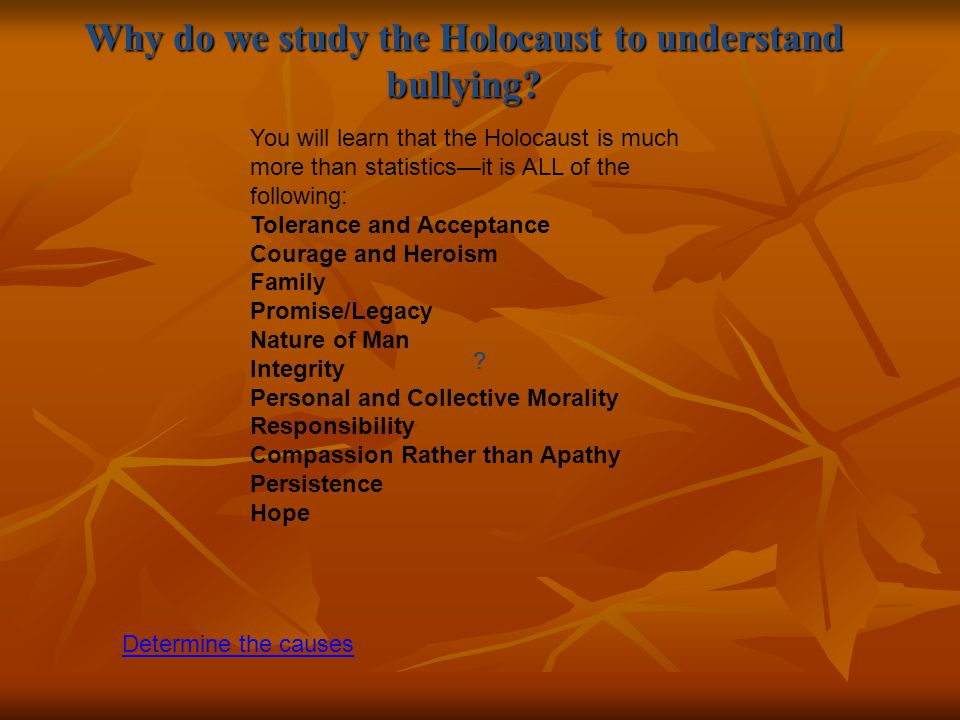 why do we learn about the holocaust
