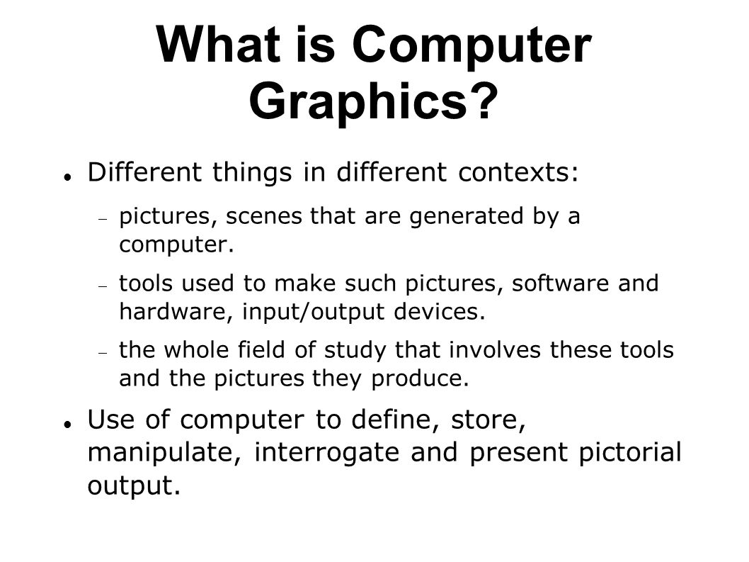 Computer Graphics Hardware and Software Lecture Notes, CEng