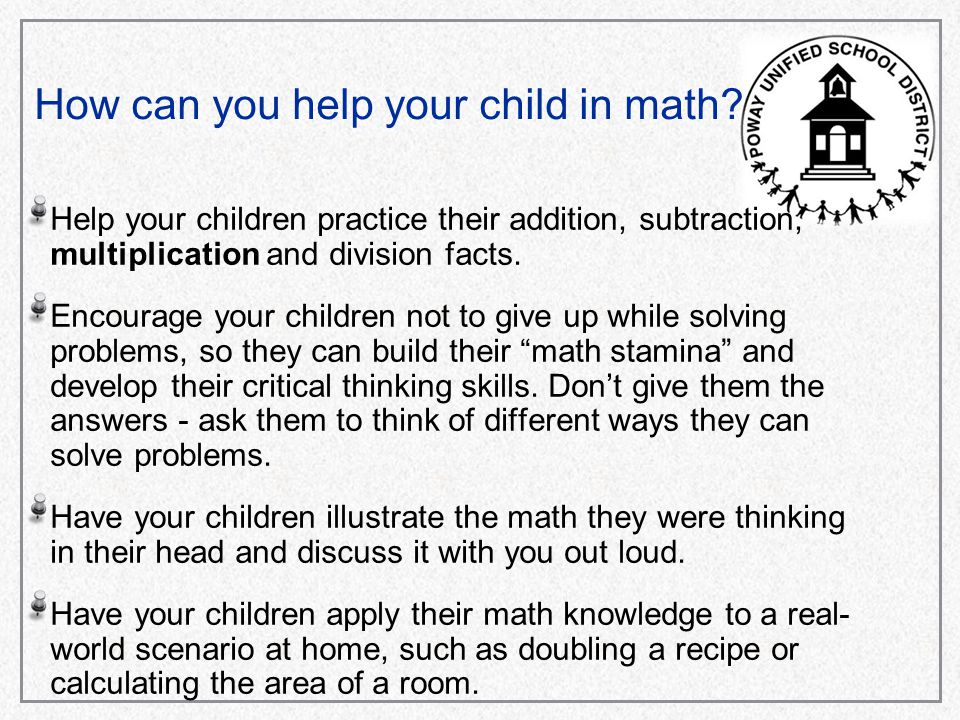 How can you help your child in math.