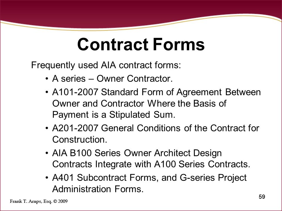 contract agreement between owner and contractor