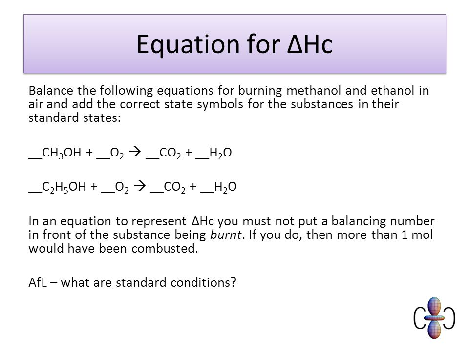 Module 3 Lesson 4 Calorimetry And Enthalpy Change Of Combustion