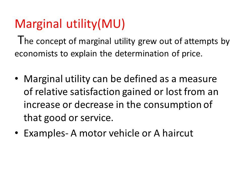 explain the concept of diminishing marginal utility