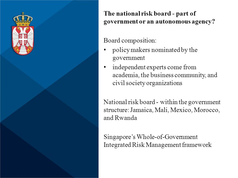 The national risk board - part of government or an autonomous agency.