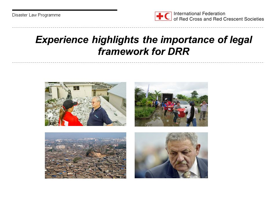 Disaster Law Programme Experience highlights the importance of legal framework for DRR