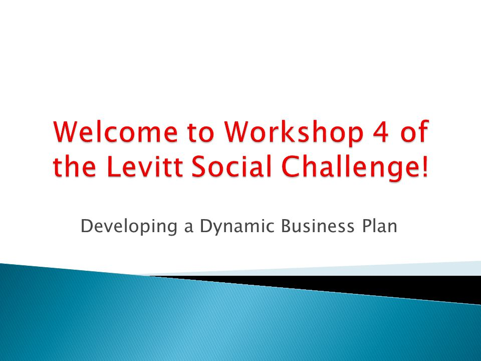 Developing a Dynamic Business Plan