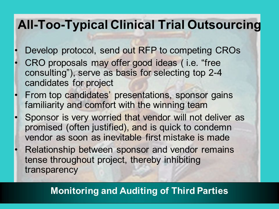 Monitoring and Auditing of Third Parties Robust Vendor Relationships