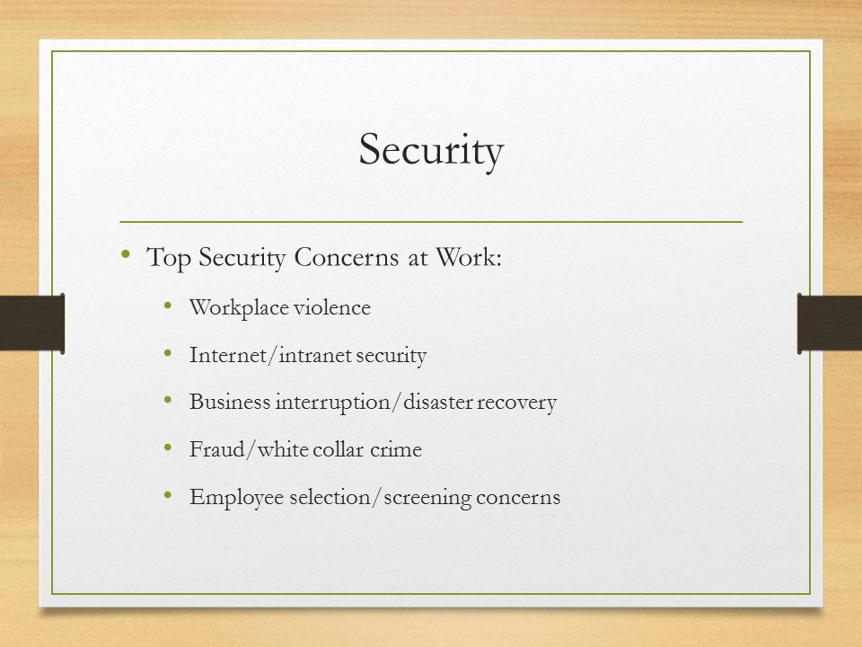 Security Post 9/11…How do we manage different.