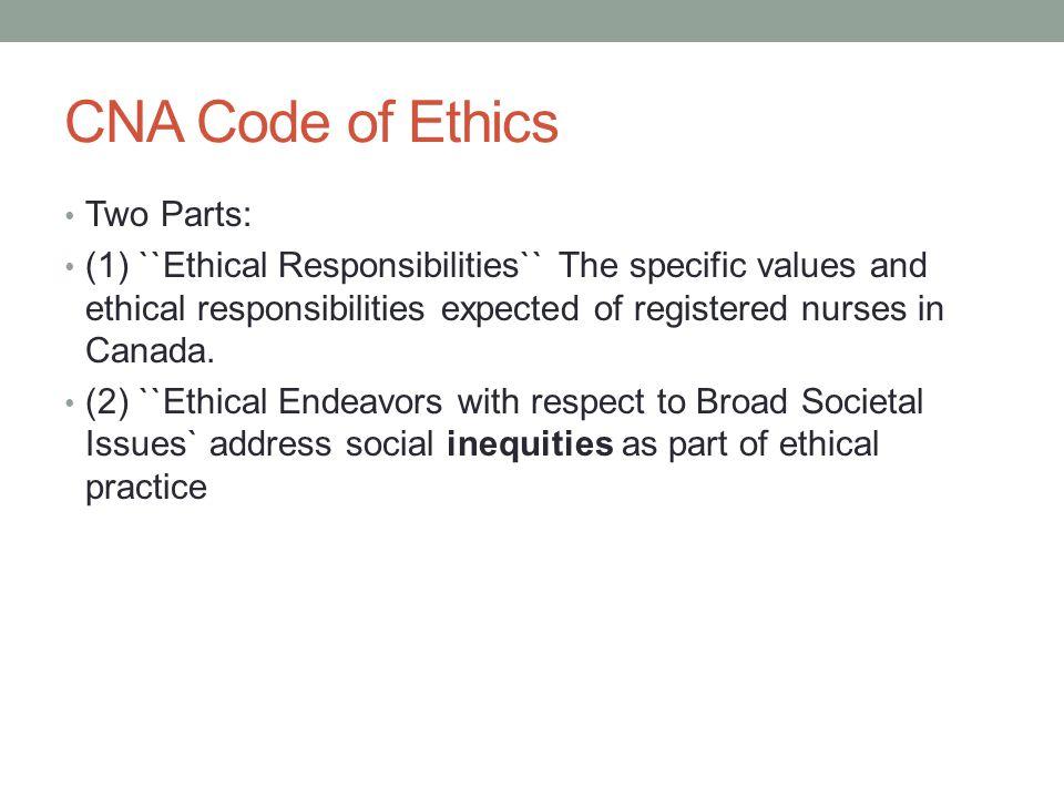 Nurse code of ethics