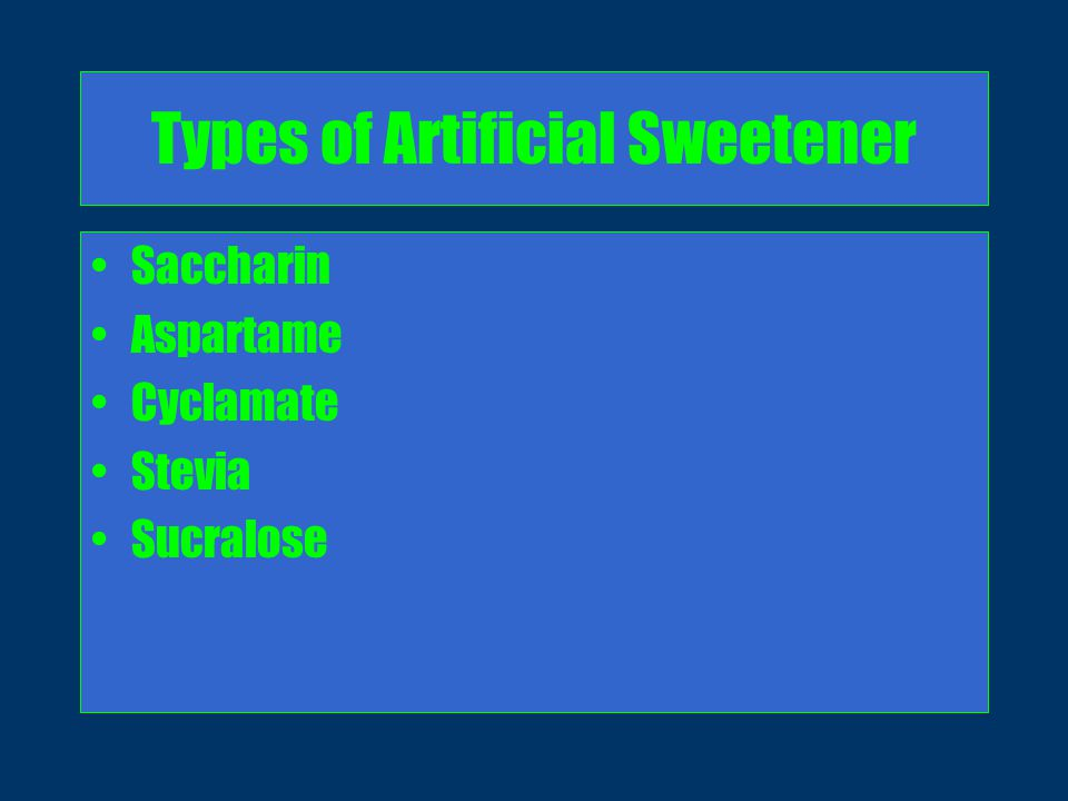 Apologise, can artificial sweeteners facial numbness was