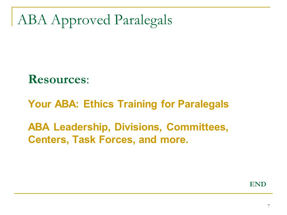 1 Aba Approved Paralegals Legal Assistants Approved By The Standing
