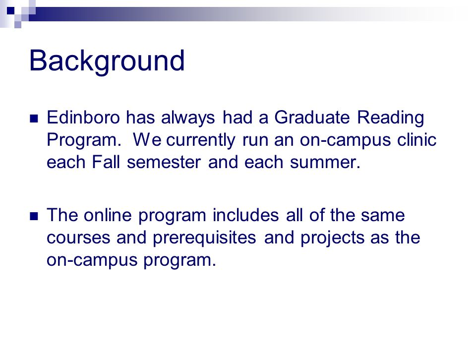 online reading masters programs