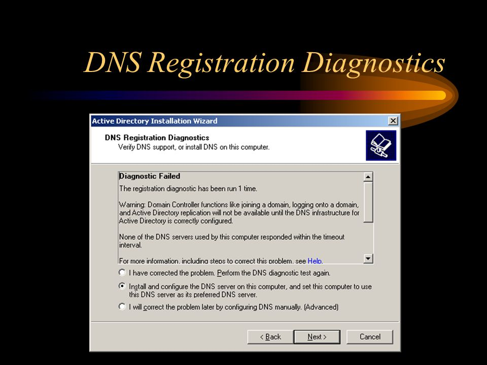 DNS Registration Diagnostics