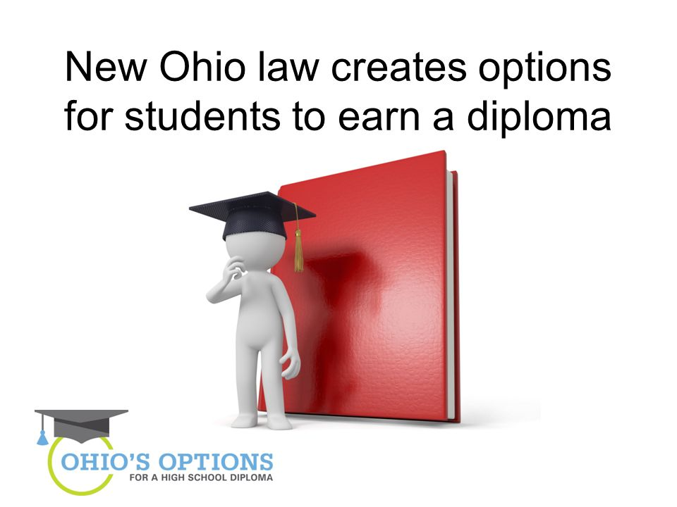 New Ohio law creates options for students to earn a diploma