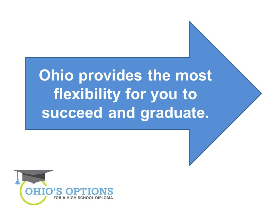 Ohio provides the most flexibility for you to succeed and graduate.