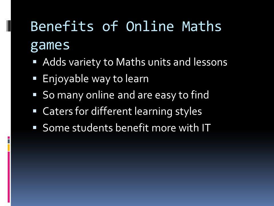 Jonathon Frazer Benjamin Walter Benefits for Integrating Math with ...