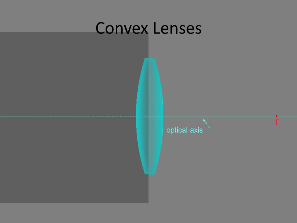 Convex Lenses optical axis F