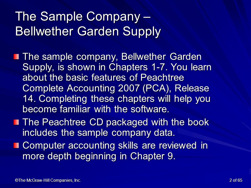 Exceptionnel ©The McGraw Hill Companies, Inc.2 Of 65 The Sample Company U2013
