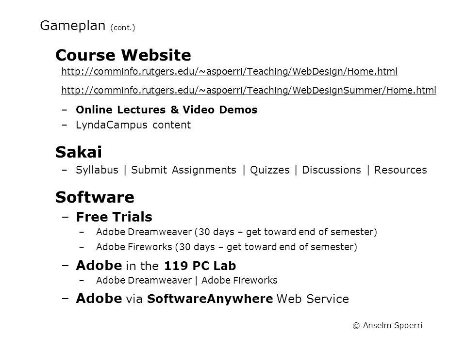 Anselm Spoerri Web Design Information Visualization Course