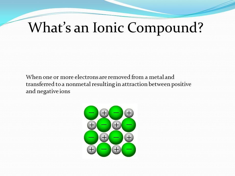 What's an Ionic Compound.