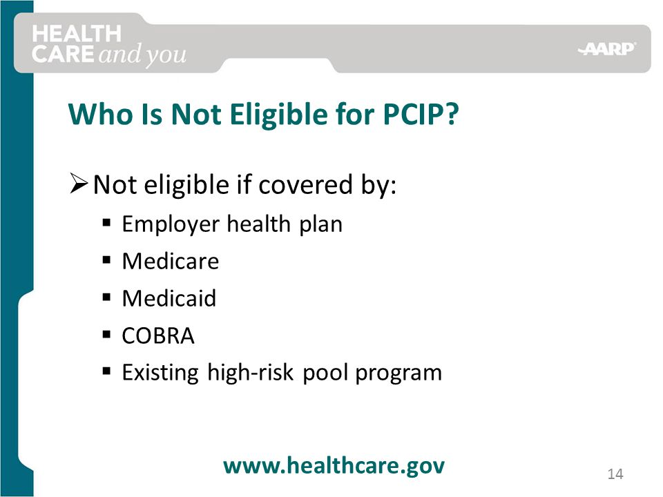 Who Is Not Eligible for PCIP.