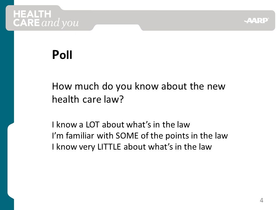 P oll How much do you know about the new health care law.