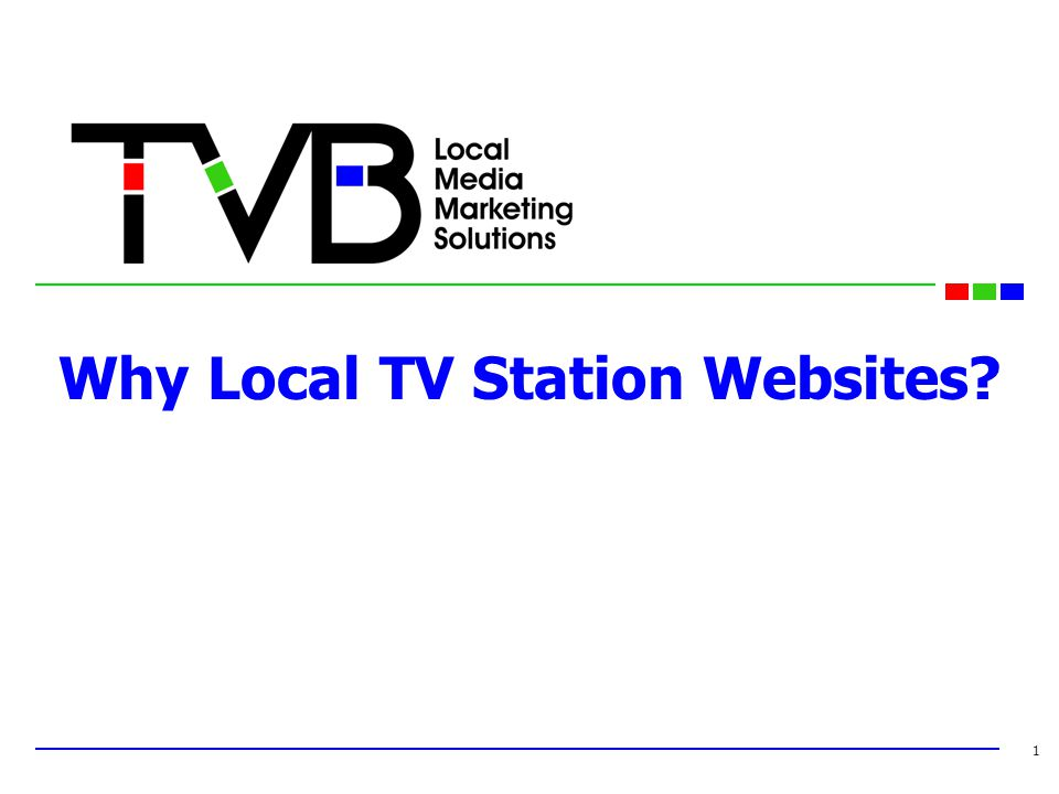Why Local TV Station Websites 1