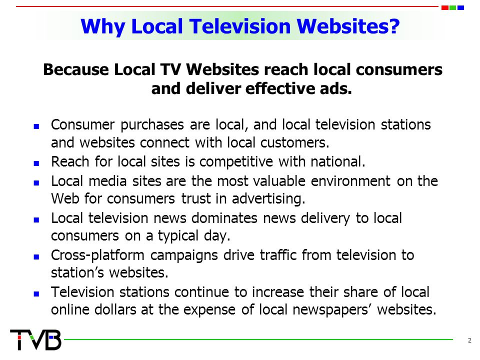 Why Local Television Websites.