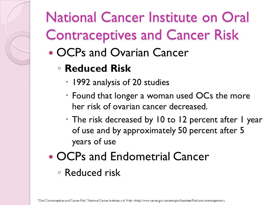 Use Of Oral Contraceptive Pills In Nuns To Prevent Cancer By Samia B Ppt Download