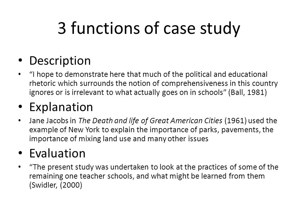case study in education examples