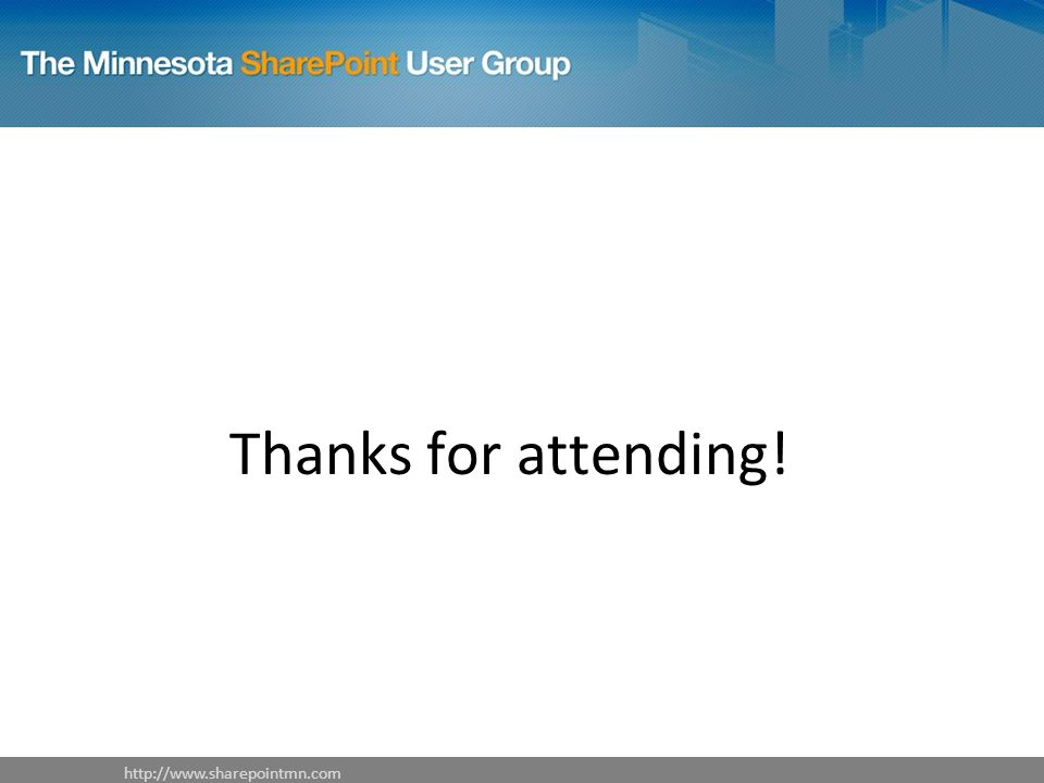 Thanks for attending!