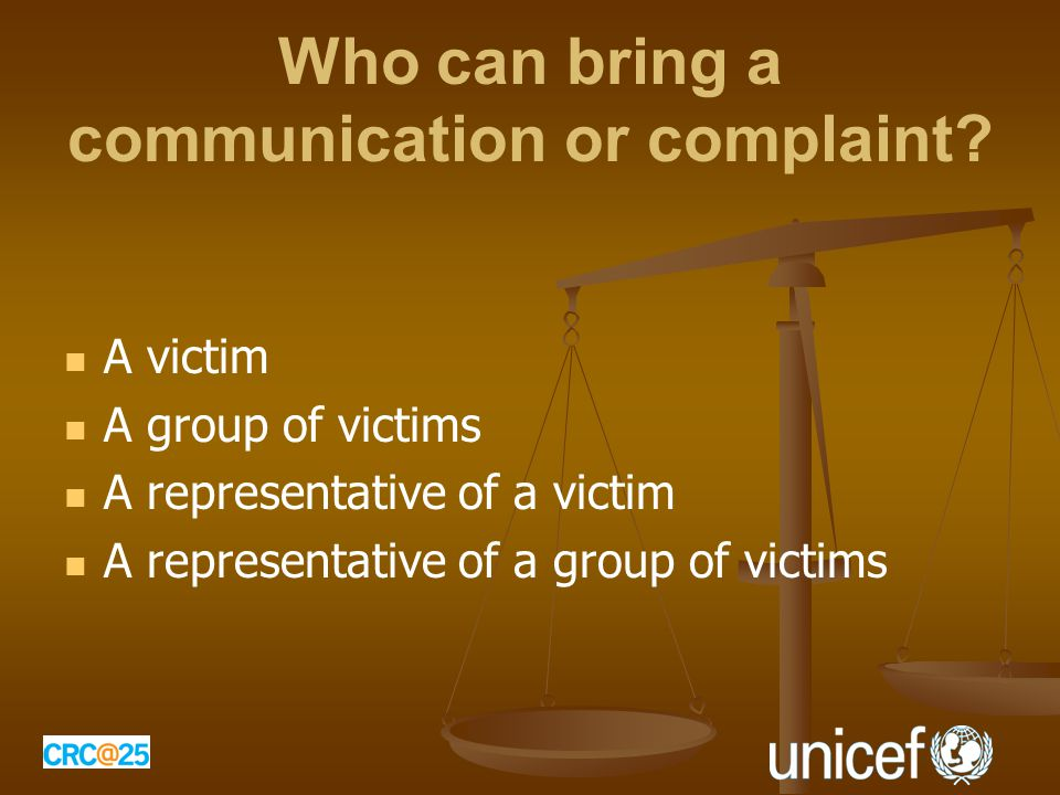 Who can bring a communication or complaint.