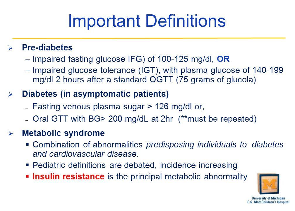 Obesity And Pre Diabetes In Pediatrics David Olson MD PhD Assistant
