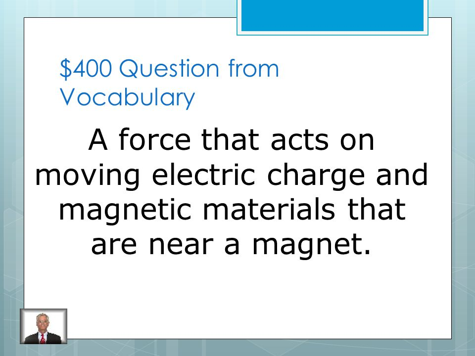 $300 Answer from Vocabulary Static Electricity