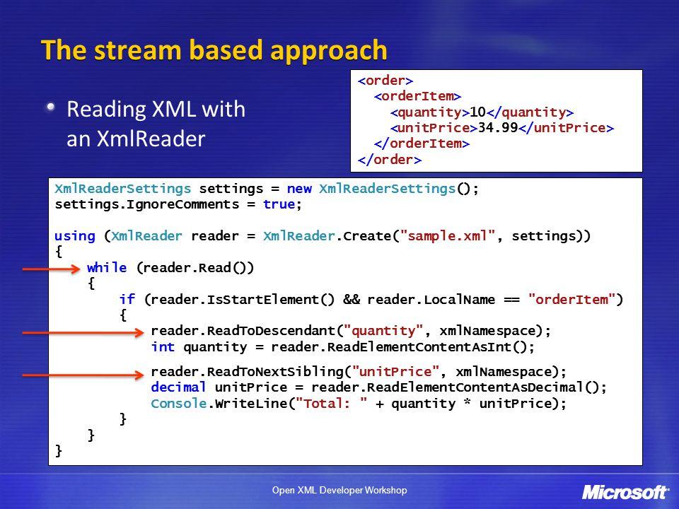 Open XML Developer Workshop XML Programming in NET  - ppt