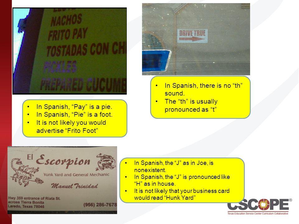 Foot In Spanish Is Pie