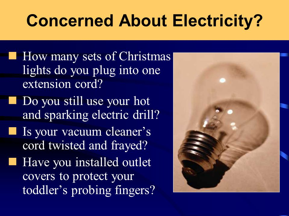 Electrical Safety 29 CFR Concerned About Electricity? How
