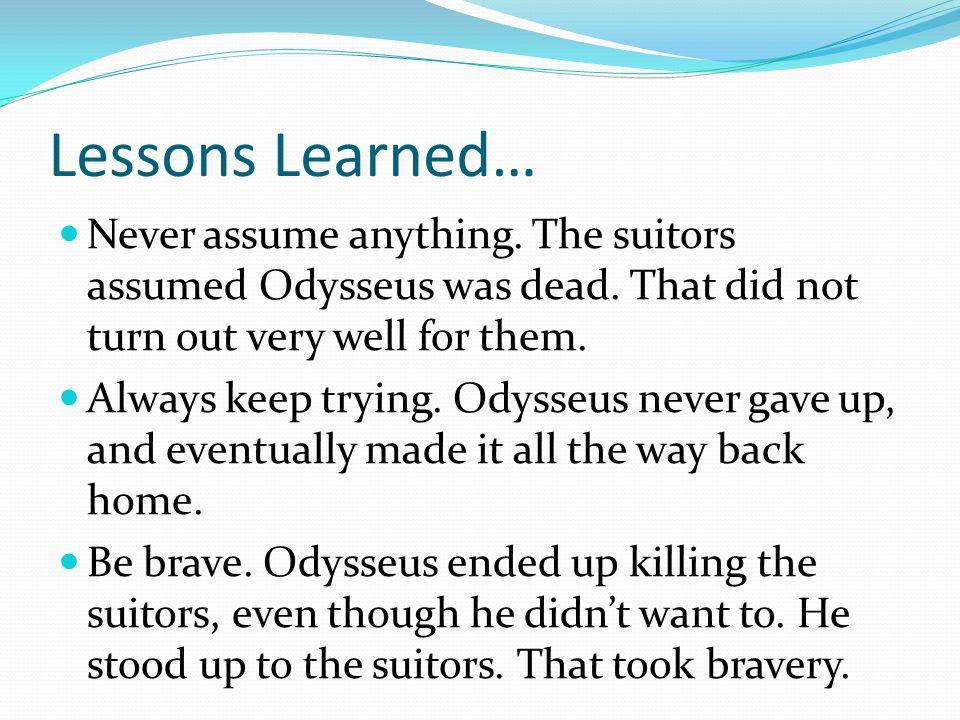 how is odysseus brave