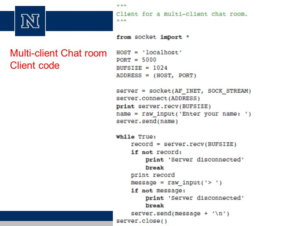 Advanced Networking in Python Modified from Steve Holden and Kenneth