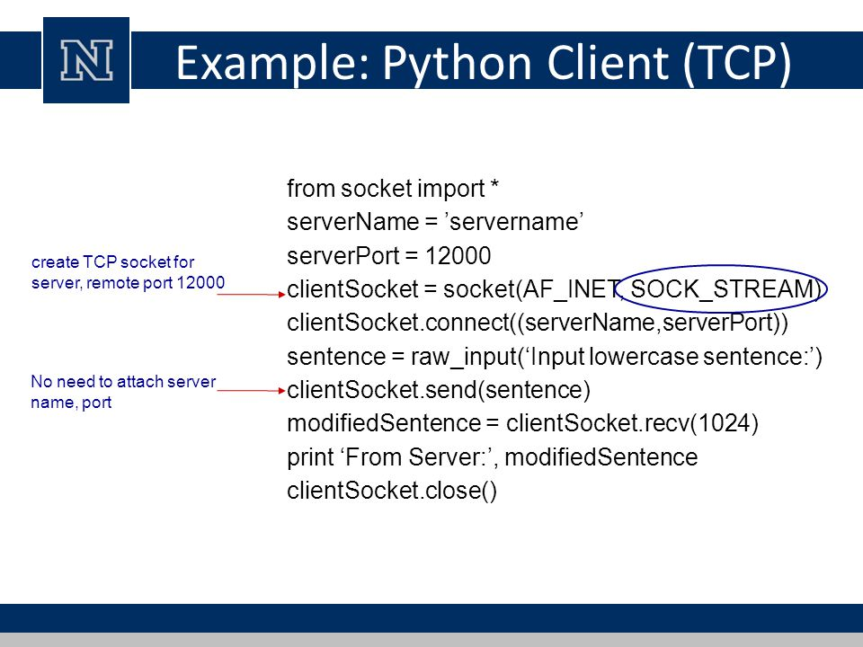 Advanced Networking in Python Modified from Steve Holden and