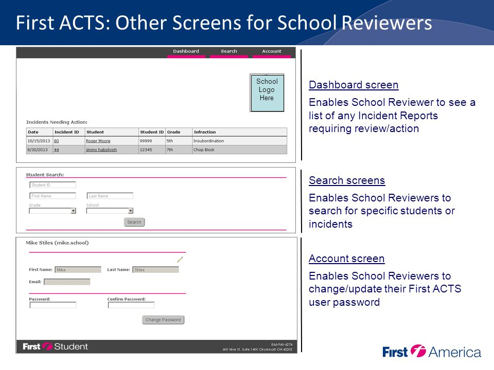 School User's Guide Reviewing an Incident Report October ppt